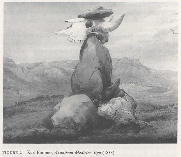 Karl Bodmer, Assiniboin Medicine Sign (from Albert Borgmann, Holding On to Reality)